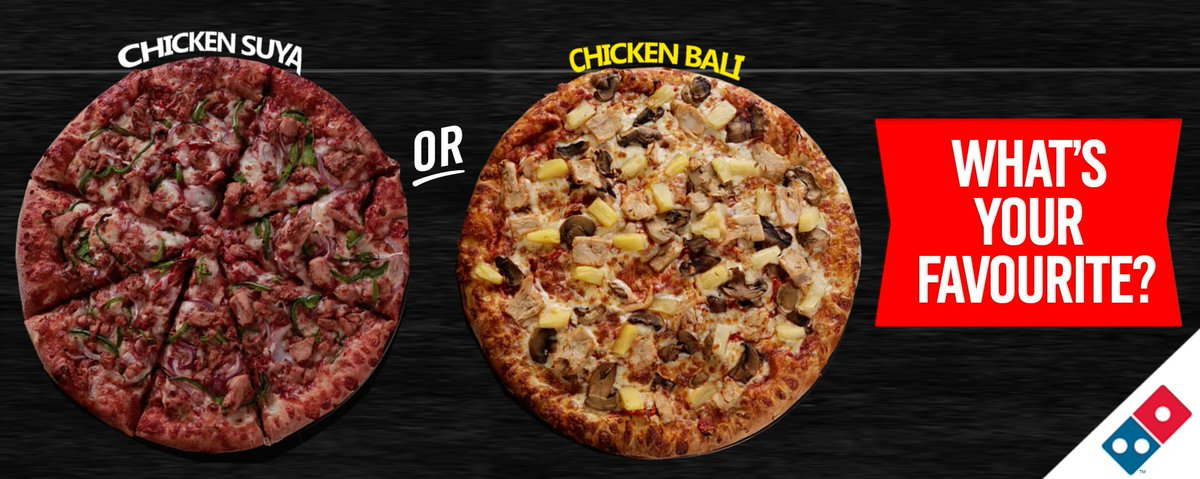 Domino S Pizza Ng On Twitter Chicken Suya Or Chicken Bali Which