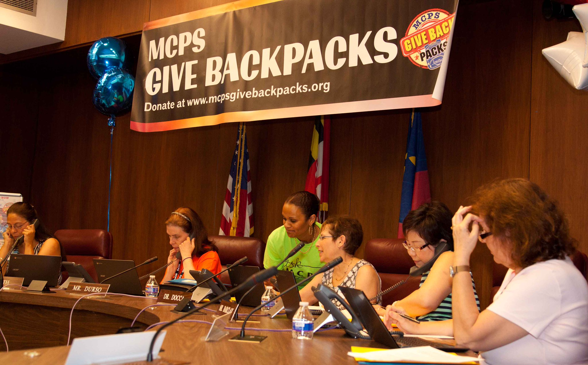 Volunteers are making/taking calls. MCPS Give Back Packs Phone-a-Thon 301-217-5323 Photos https://t.co/MuyX6N5gxz https://t.co/iXehqMTFlY