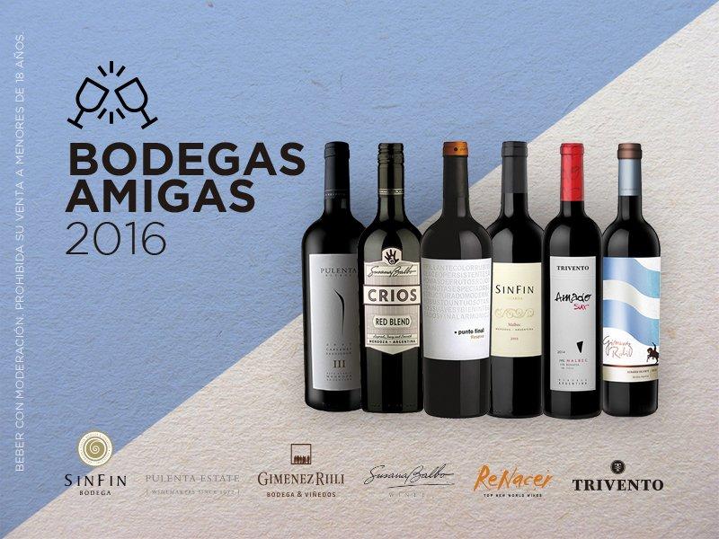 Sorteamos una caja de vino de cada bodega. Retuitea y seguí a todas las #BodegasAmigas https://t.co/dki9IoOyN6