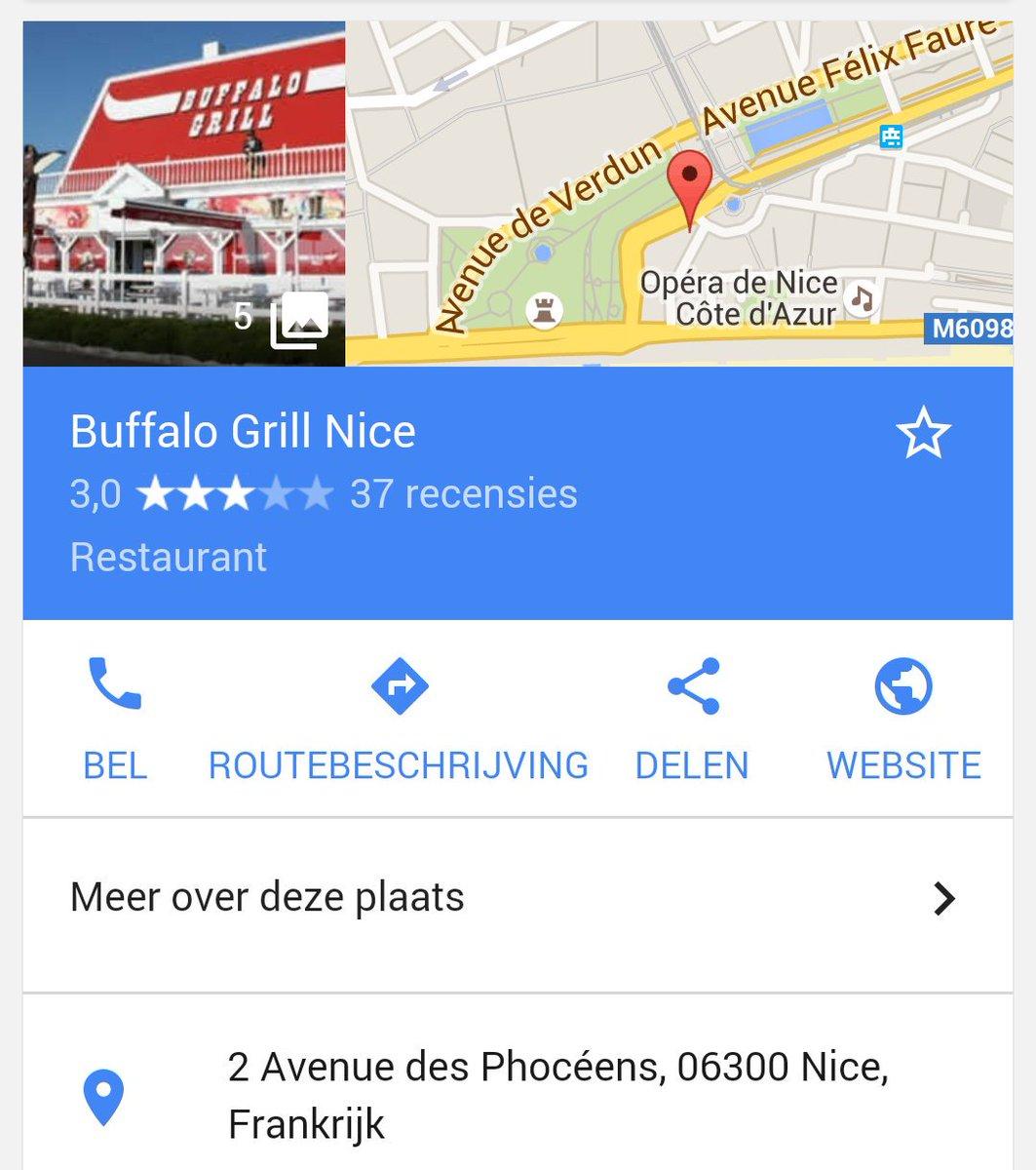 Verschillende onbevestigde berichten nu over een gijzeling die aan de gang is in restaurant Buffalo Grill in #Nice https://t.co/ZfhLbChoXU