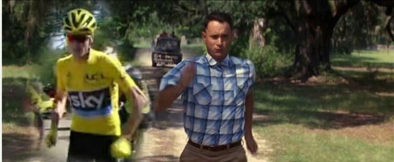 Run, Froomey, run! If life's a box of chocolates then it was a Marathon bar today for the man in yellow. #TDF2016 https://t.co/lx6CEMkNrv