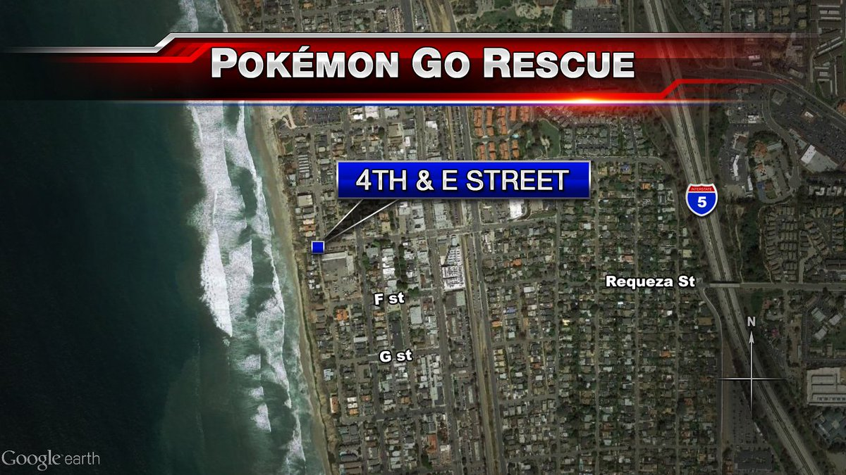 Two men fell off a cliff in Encinitas while playing #PokemonGo.   STORY: https://t.co/dTS0APETuP