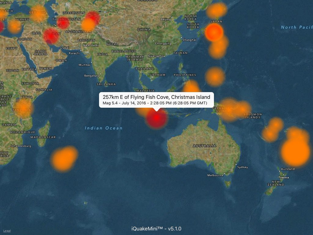 Appsmini on twitter 257km e of flying fish cove for Flying fish cove christmas island