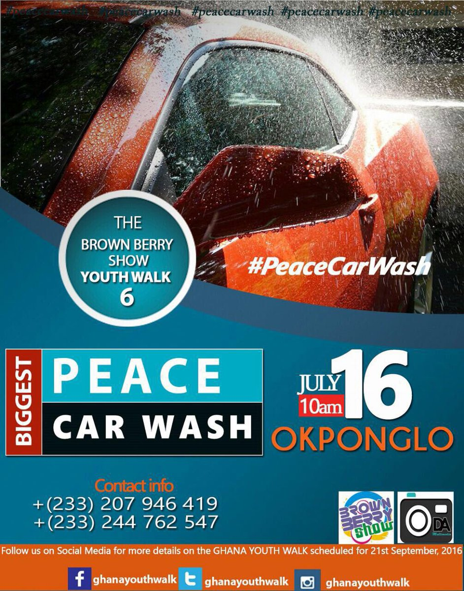 #PeaceCarWash #PeaceCarWash #PeaceCarWash #PeaceCarWash Saturday from 10:00am.. https://t.co/fNtDSrkfAD