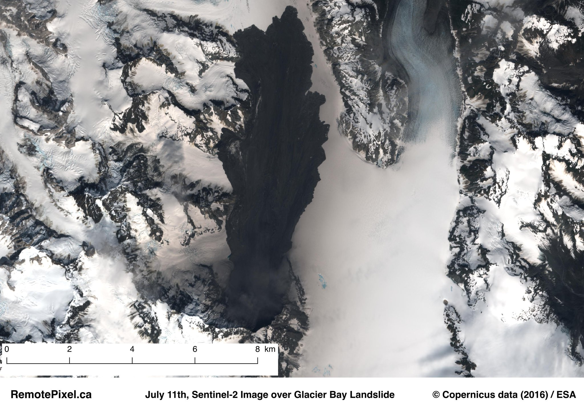 Mapping the Glacier Bay landslide using Sentinel-1 and