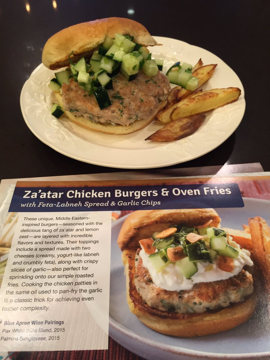 Blue apron za'atar chicken - Alison Sweeney On Twitter Hey Blueapron Feeling Pretty Good About Dinner Tonight Thanks For The Assist