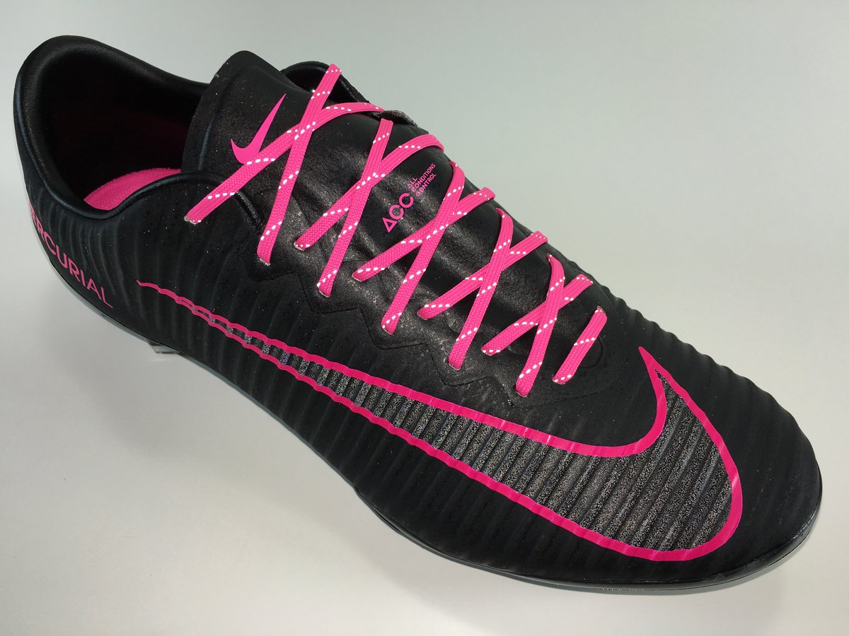 12f6afb88e6 ... discount code for soccerreviewforyou on twitter sr4u reflective neon  pink soccer laces on nike mercurial vapor