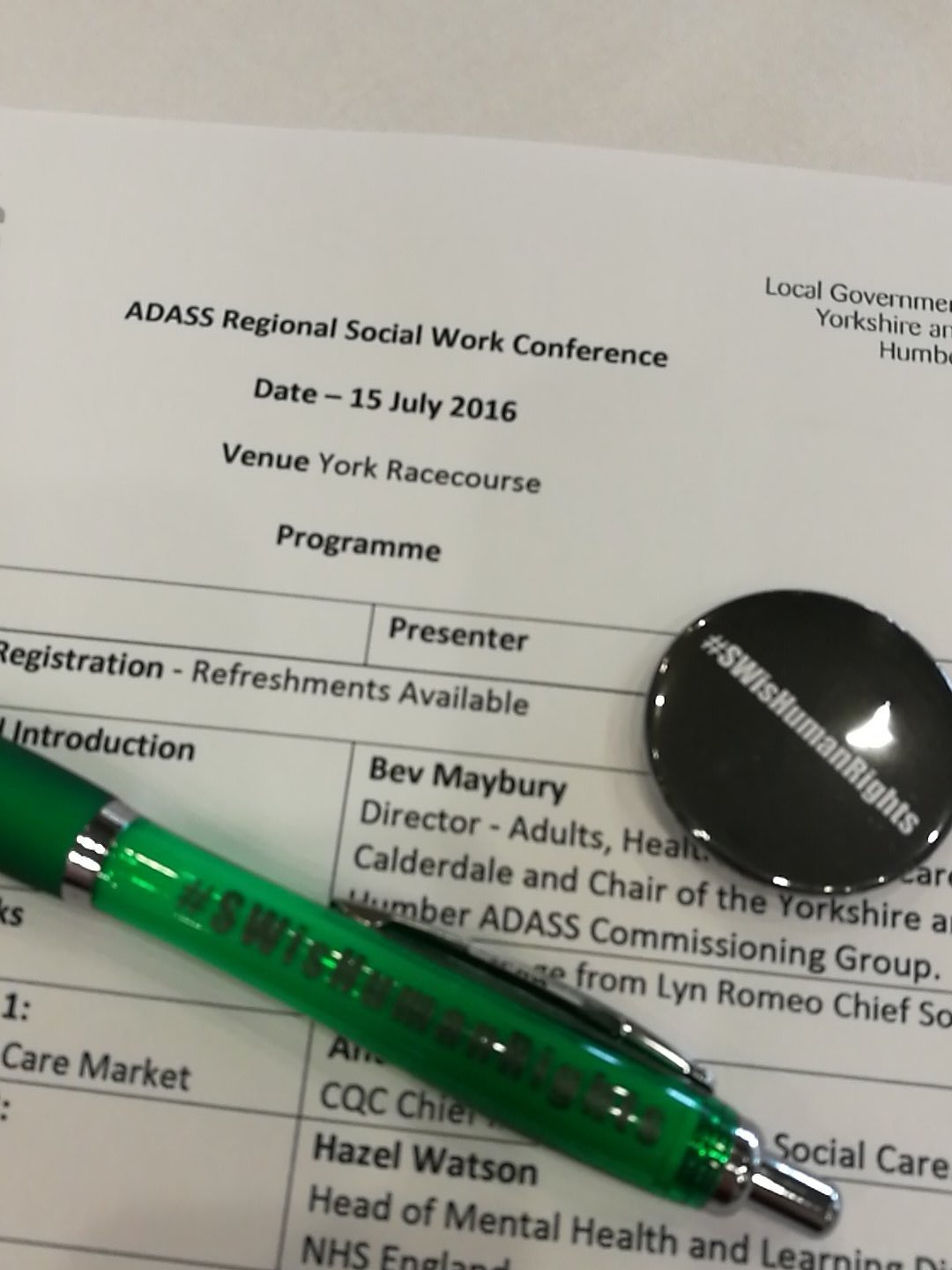 Looking forward to a great day at the ADASS regional conference. #SWisHumanRights https://t.co/40p3G4zYfA