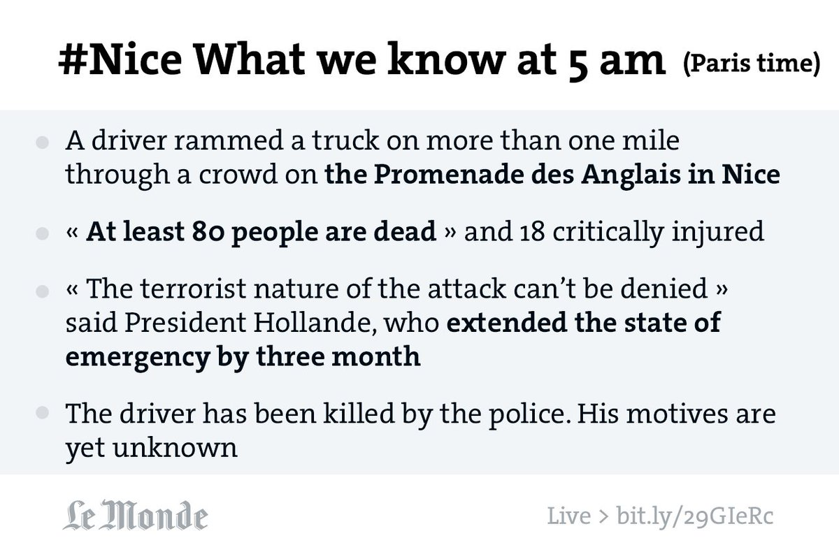 #NiceAttack > What we know at 5 am - Paris hour #english https://t.co/hVSKIoeaEx #Nice #Nice06