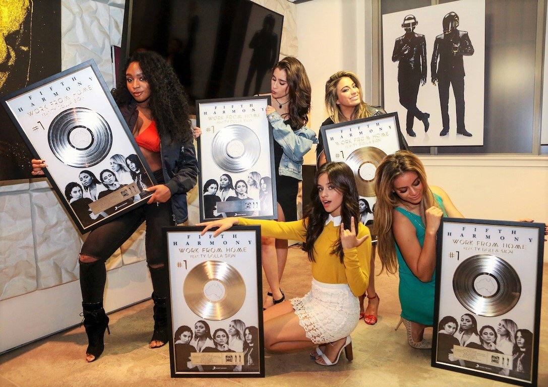 Congrats @FifthHarmony - 'Work From Home' has hit Triple Platinum in Australia! Thanks for visiting this week!!