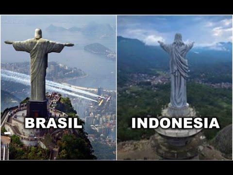 Patung Yesus yang berada di Tana Toraja, Sulawesi Selatan, tingginya mengalahkan patung Yesus yang ada di Brasil. https://t.co/5gFY17IQN2