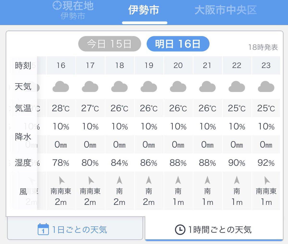 天気 明日 伊勢 の