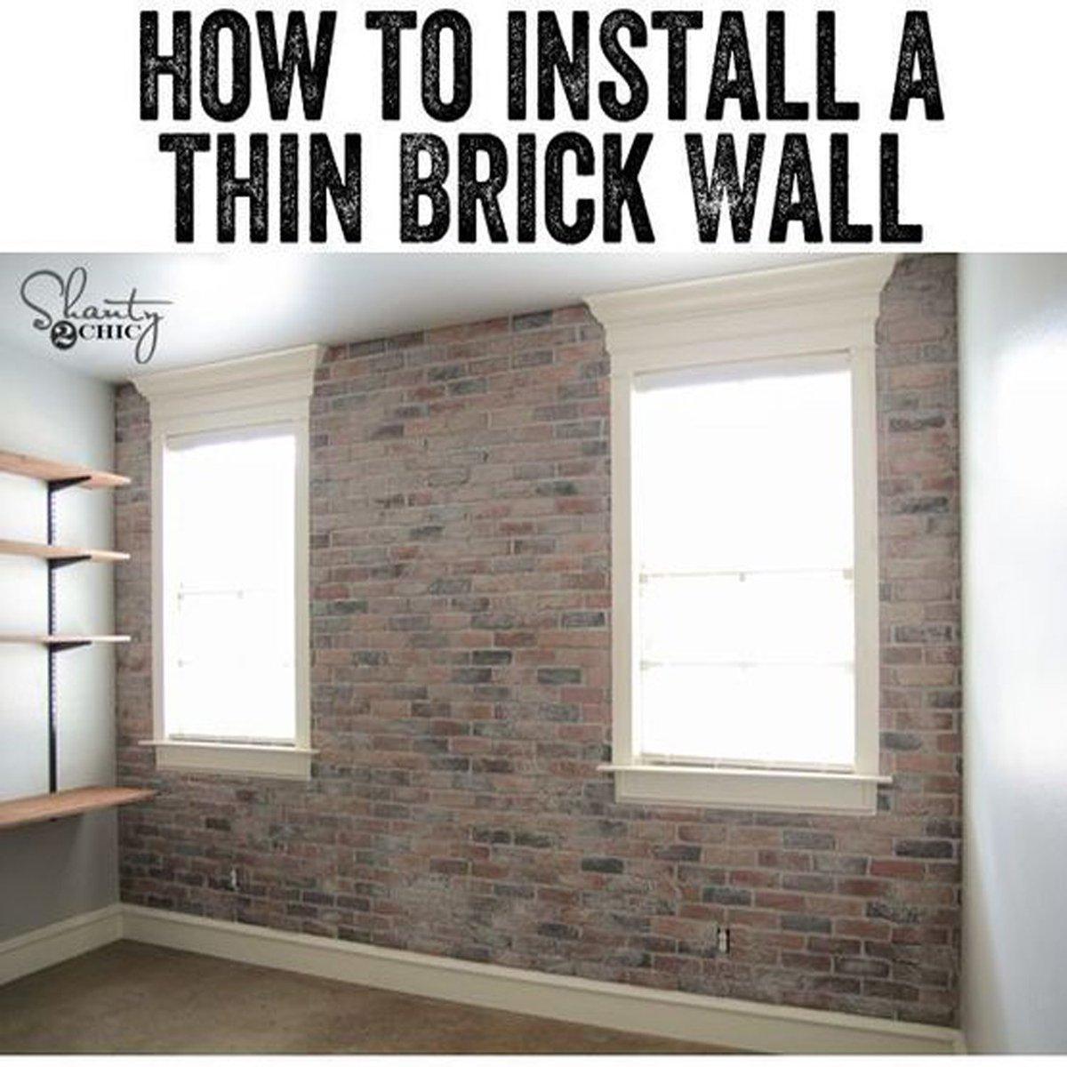 Diy Thin Brick Installation Shining Home Design