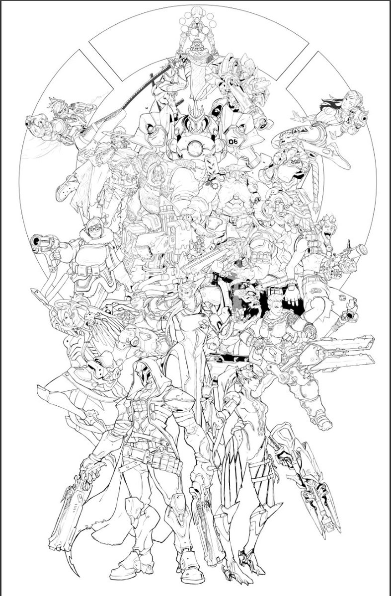 Overwatch Dva Coloring Pages Coloring