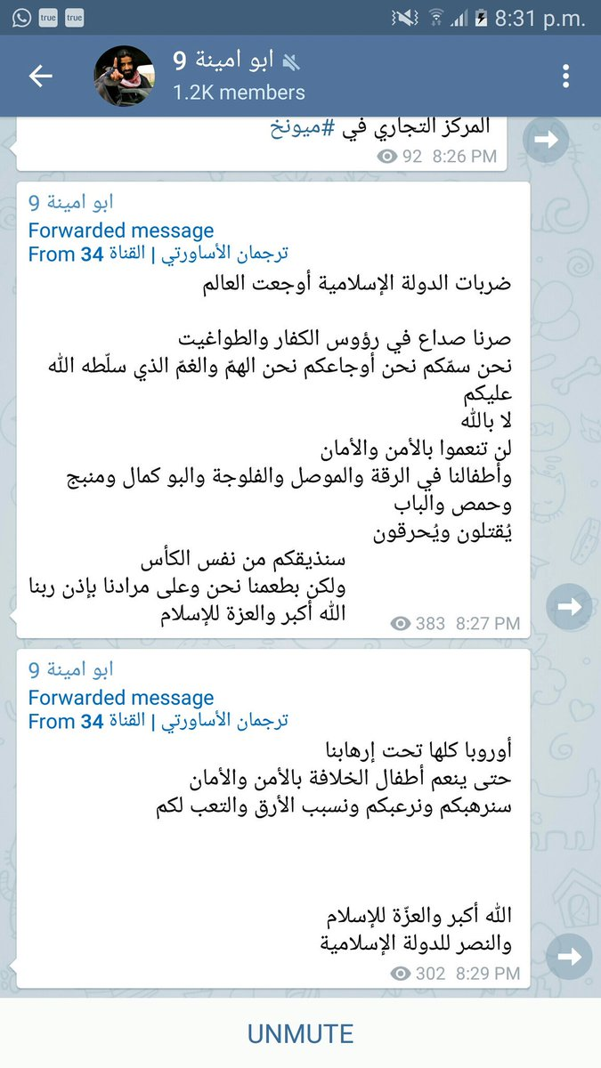 Isis-affiliated telegram channels