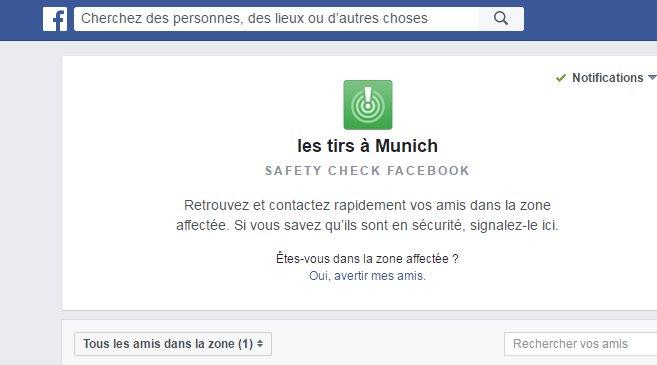 ⚠️ Facebook active son 'Safety Check' https://t.co/UbfNHGZShB #Munich #Fusillade