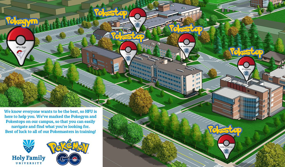 Holy Family Campus Map.Holy Family U On Twitter Attention All Pokemon Trainers We Ve