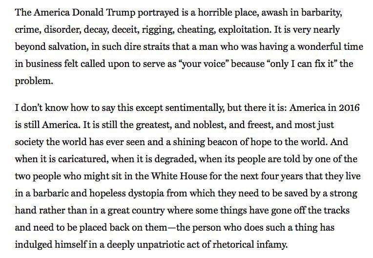 Conservative columnist, Reagan speechwriter, 5x Jeopardy champ @jpodhoretz sums up USA poetically. Please read: https://t.co/OKxHit8nGg