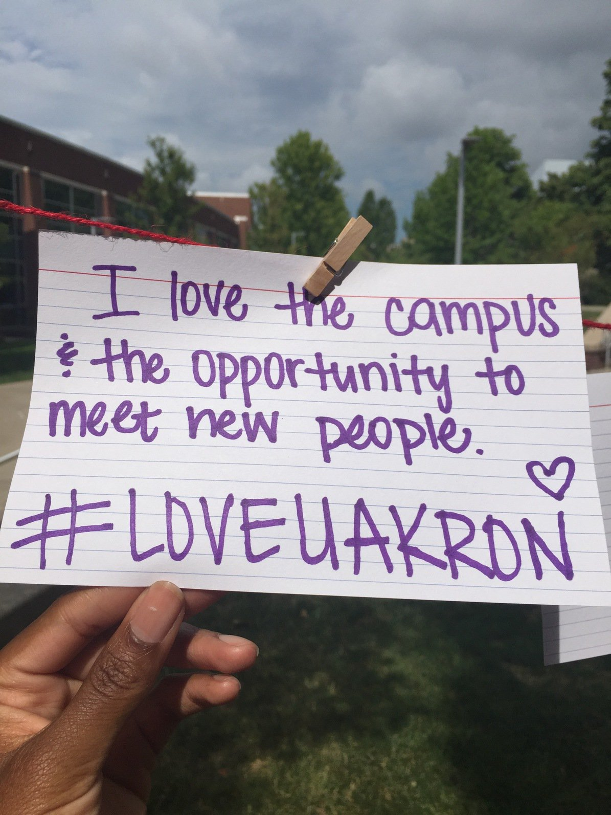 Thumbnail for #LoveUAkron campaign celebrates UA