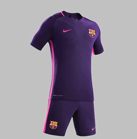 99dae686866ab Barcelona and Real Madrid have both unveiled their purple away kits for  next season. Which do you prefer pic.twitter.com 04ljyZ9dgu