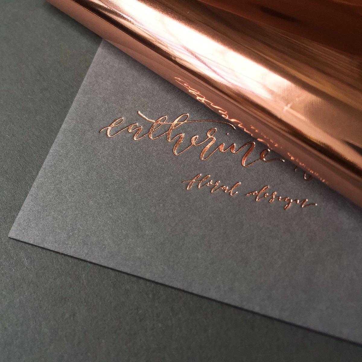 Dot Studio On Twitter Rose Gold Foiling On Smoke Colorplan