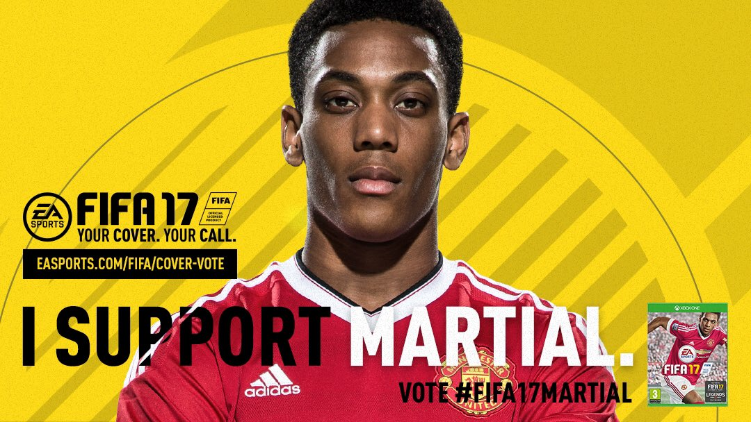 Let's get @AnthonyMartial on the front cover of #FIFA17! #ad Vote here: easports.com/martial
