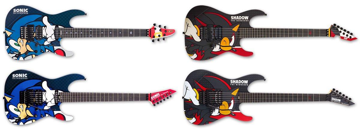lifelower on twitter new sonic shadow the hedgehog x esp guitars. Black Bedroom Furniture Sets. Home Design Ideas