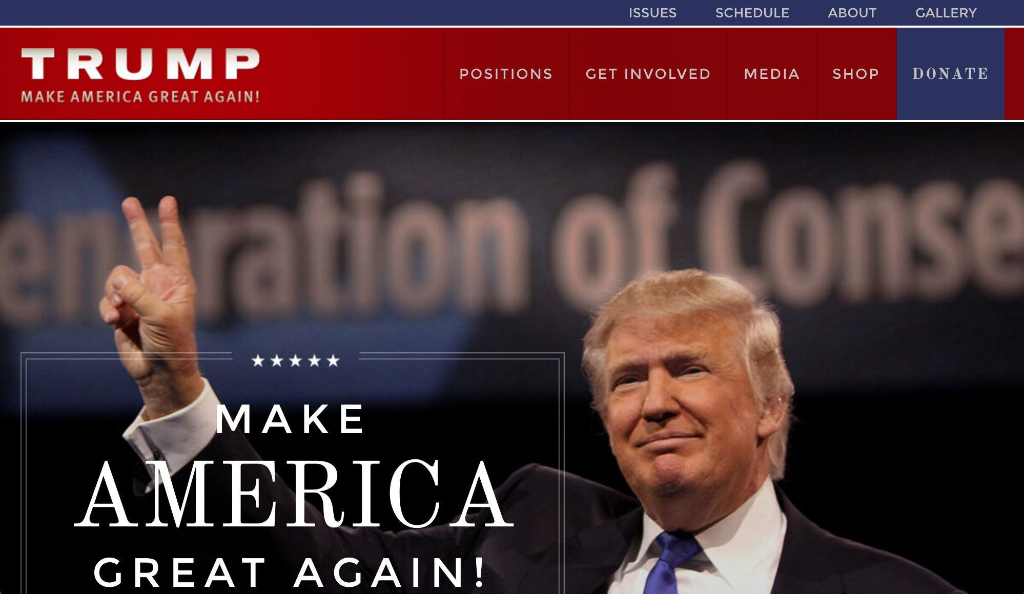 A few easy digital things Trump's team didn't do before announcing Pence: 1) Update Trump's website with the news. https://t.co/dOzlCTjAkA