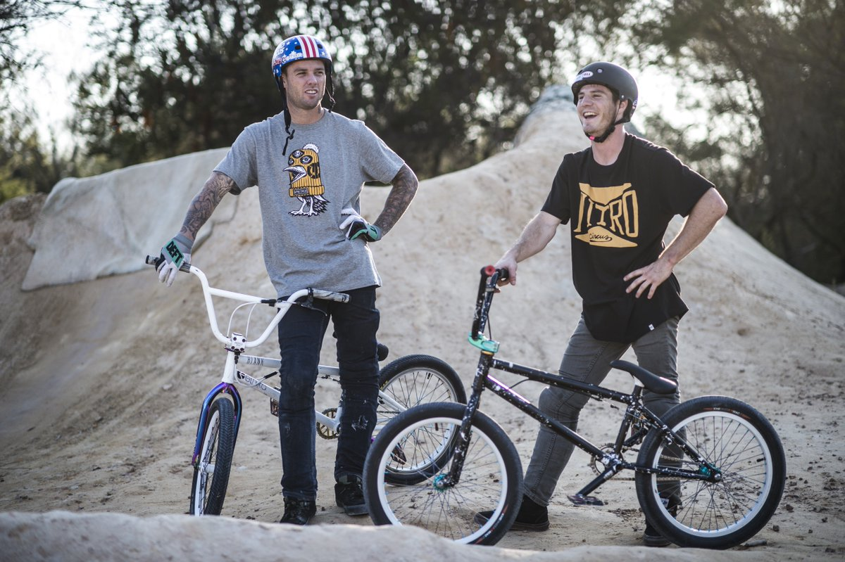 Plotting to pull off the impossible in the official rider's gear from '47. #NitroCircus https://t.co/vjvSkJFpdv