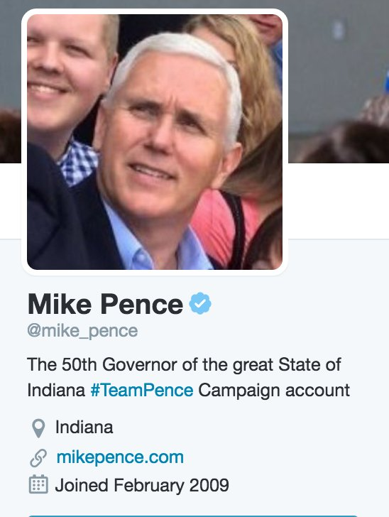 2) Update Mike Pence's profile on Twitter to say he is on the ticket https://t.co/AOnntDMXNE