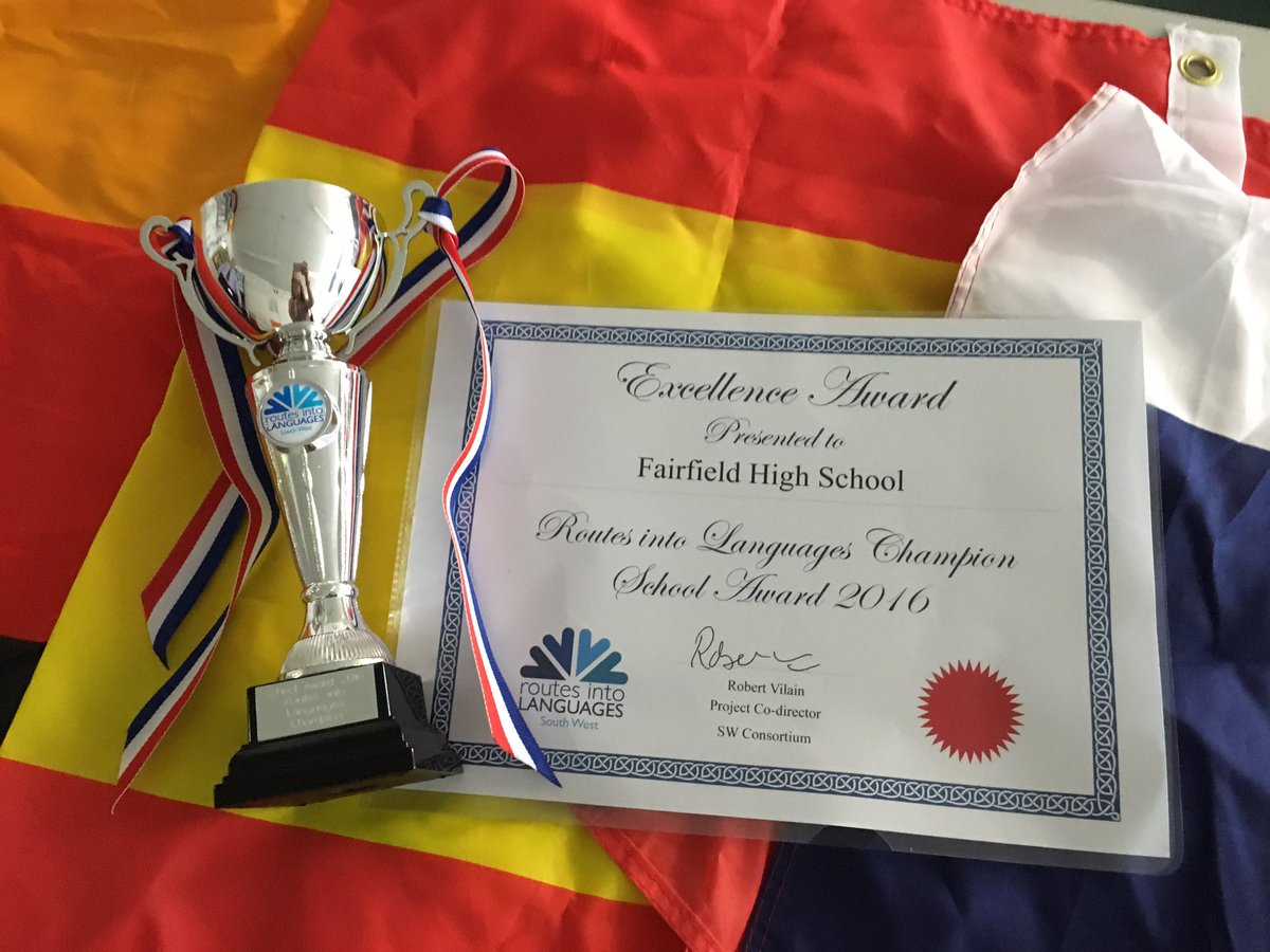 @FHSBristol @Routesintolangs @RoutesSouthWest We are thrilled to be awarded languages champion 2016.