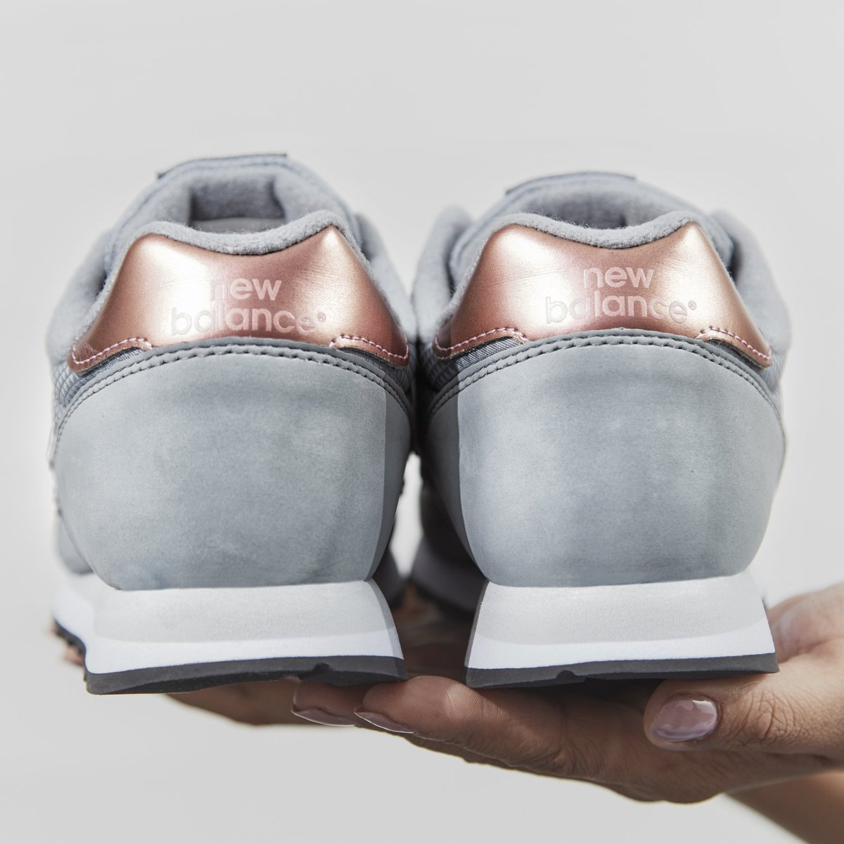 gray and rose gold new balance