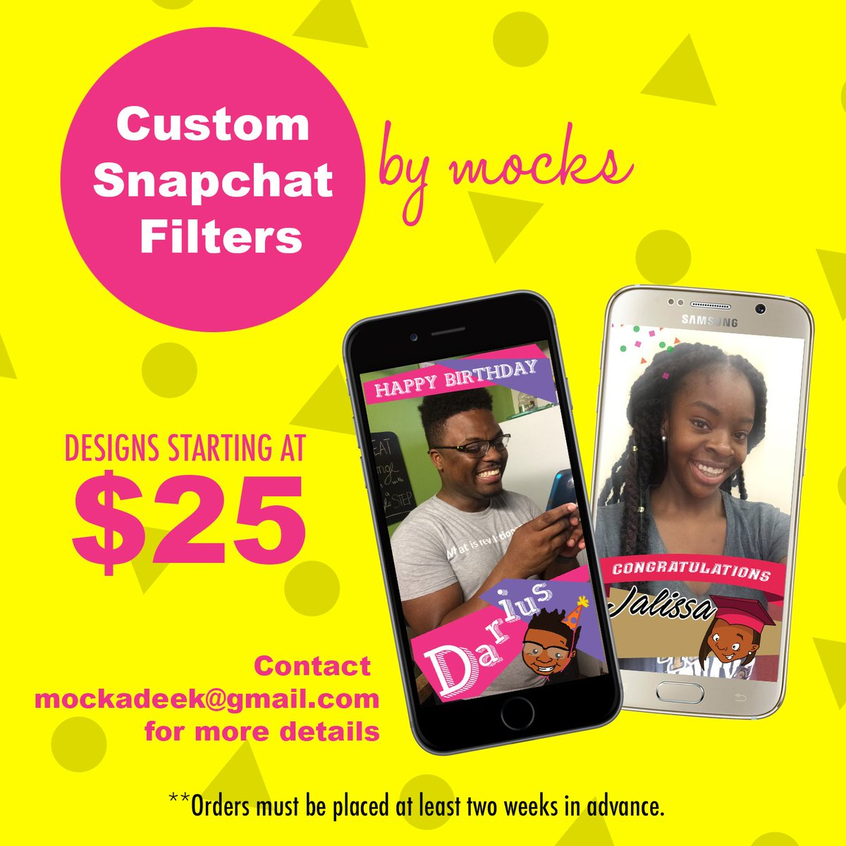 In case you forgot... Custom Snapchat Filters!! https://t.co/lGujVMf4jj