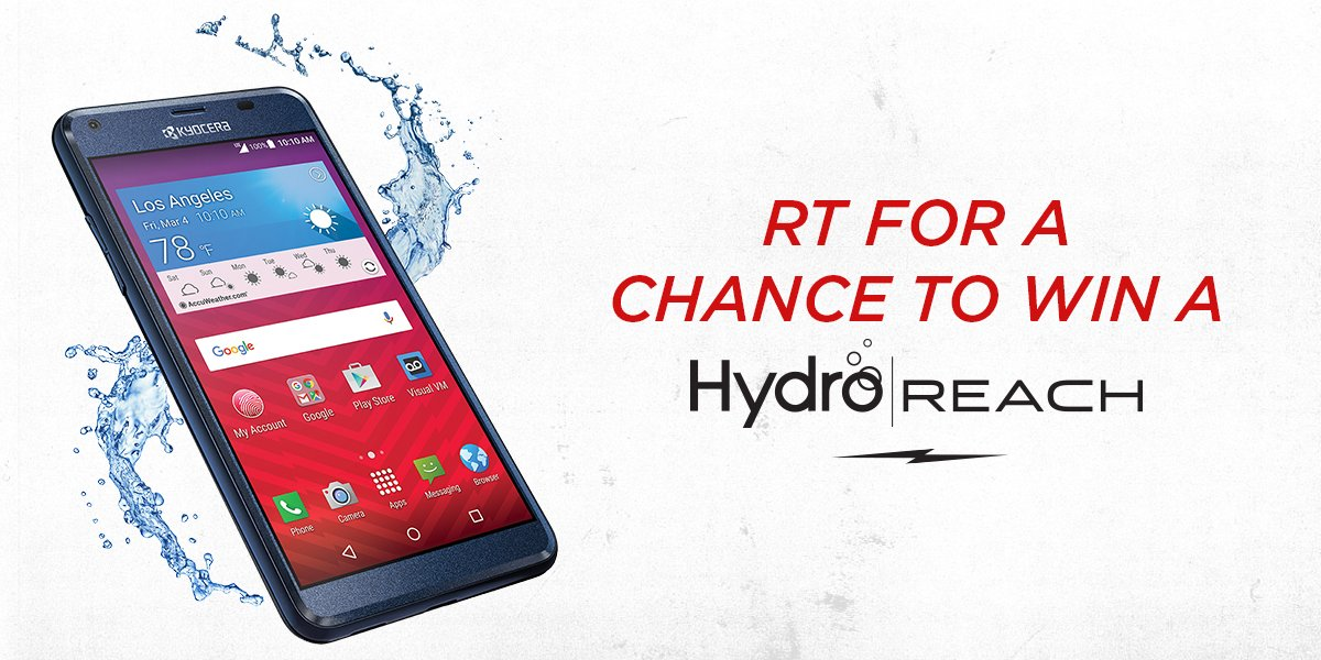 It's #GiveSomethingAwayDay, so get yours. RT for a chance to win a #LifeProof Hydro REACH by @KyoceraMobile