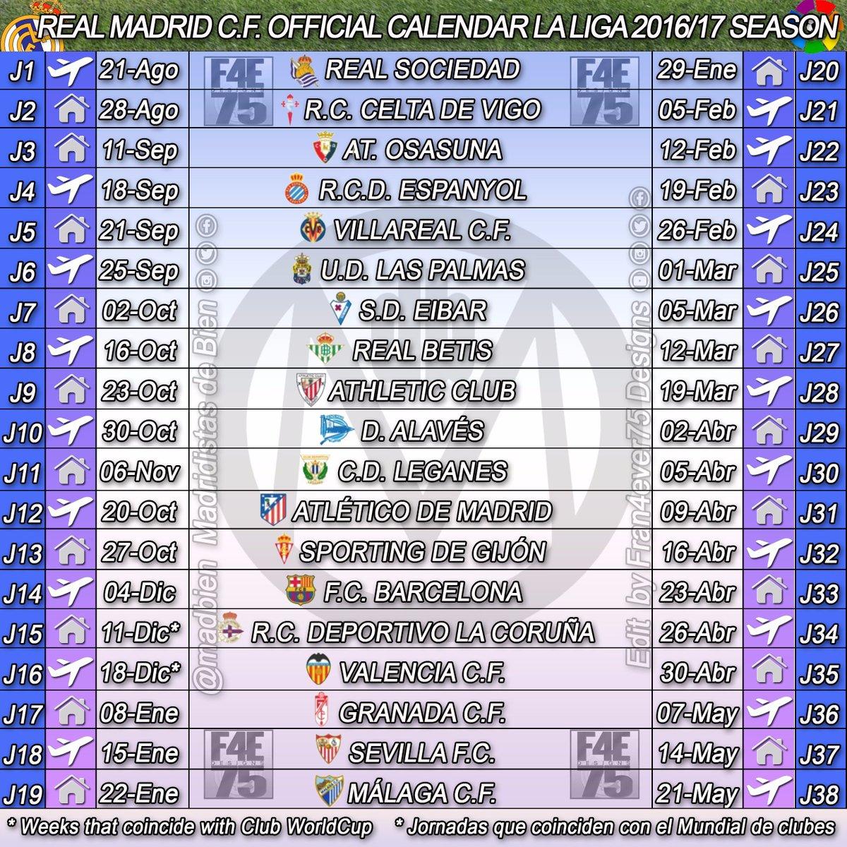 Real Madrid Calendario.Fran4ever75 Designs C On Twitter Calendario Oficial Del