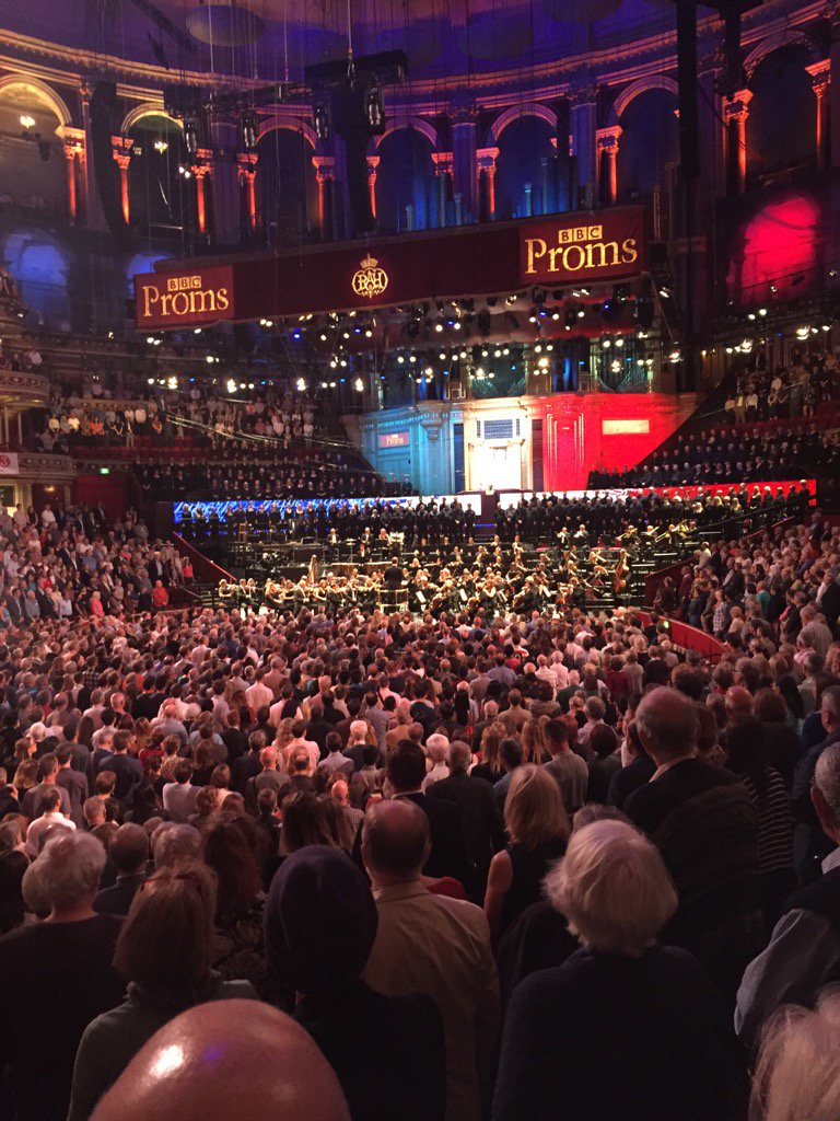 Crowd stand for La Marseillaise at first night of BBC Proms #NiceFrance https://t.co/BOQQqivReg