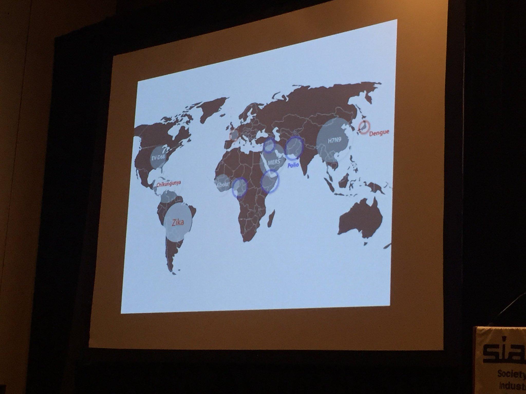 Many #epidemics in the last few years. #MERS invited talk #SIAMAN16 #siamls16 https://t.co/7PGpuQlunu