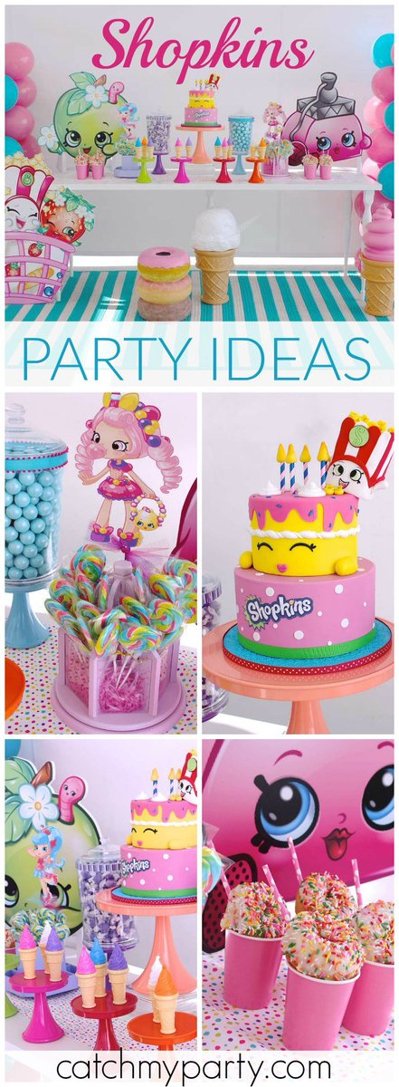Catch My Party On Twitter Here S A Stylish Shopkins Birthday Party