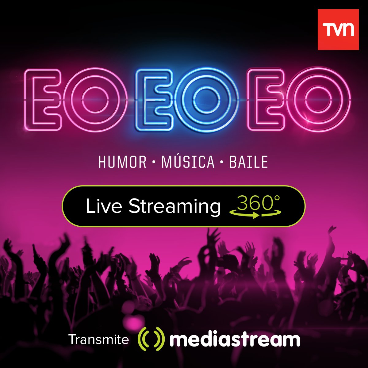 Entra ya y vive la experiencia Live 360º de EO EO EO en TVN https://t.co/PZUhXB1K9l #tvn #eoeoeo #mediastream360 https://t.co/TvJQGdV9HG