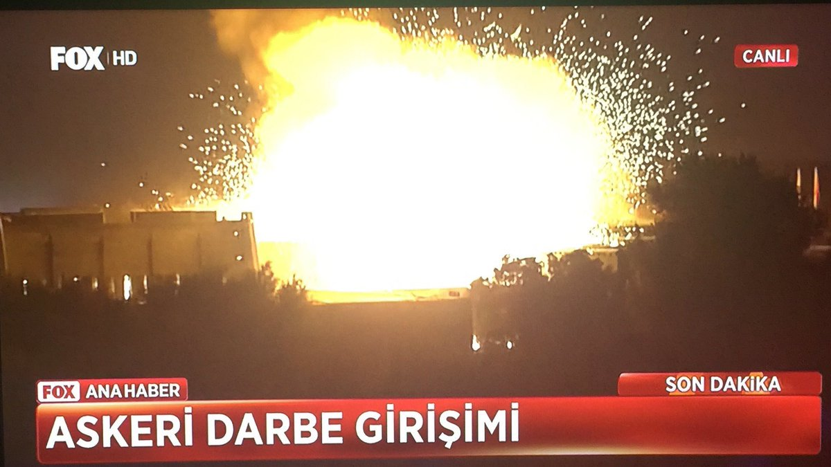 BREAKING: Turkish Parliament being bombed now