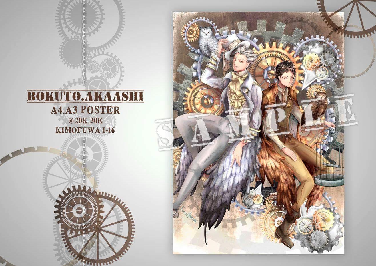 Design poster k3 - Akira Ll Cf9 K3 4 On Twitter Poster Design By Enma_akatsuki Visit Us At Comifuro7 I 16 Haikyuu Tokyoghoul Comifuro