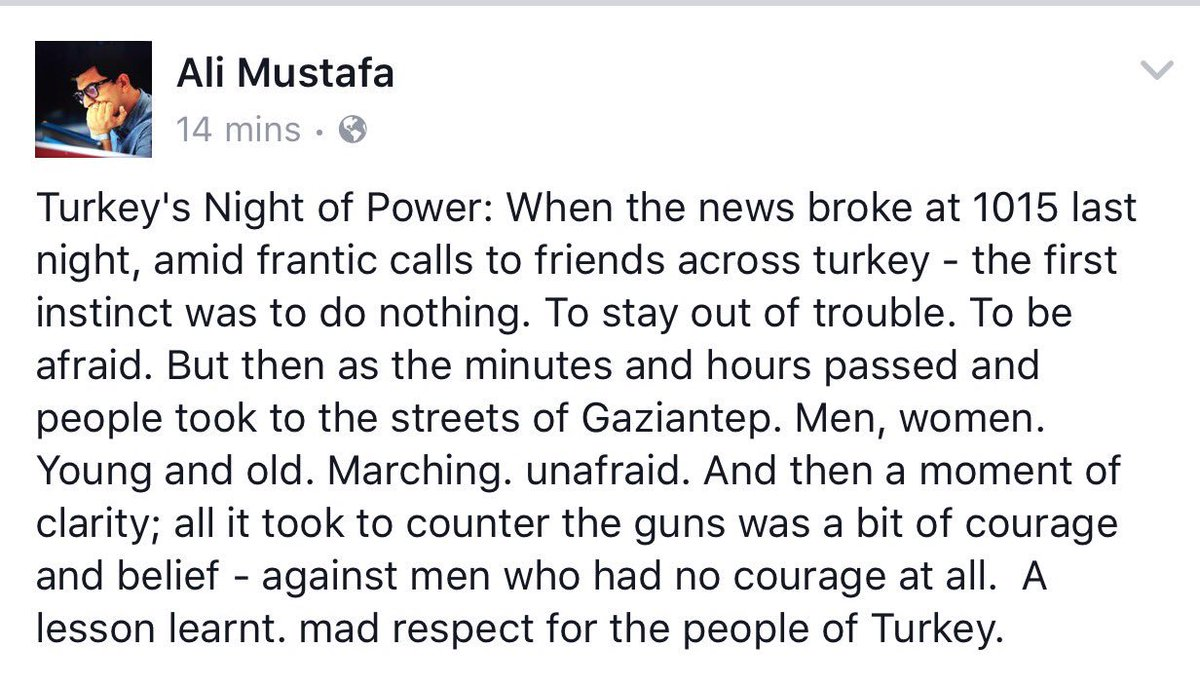 Never underestimate the power of the people. Have seen so many stories like this from last night. #Turkey https://t.co/qYG9HLl26C
