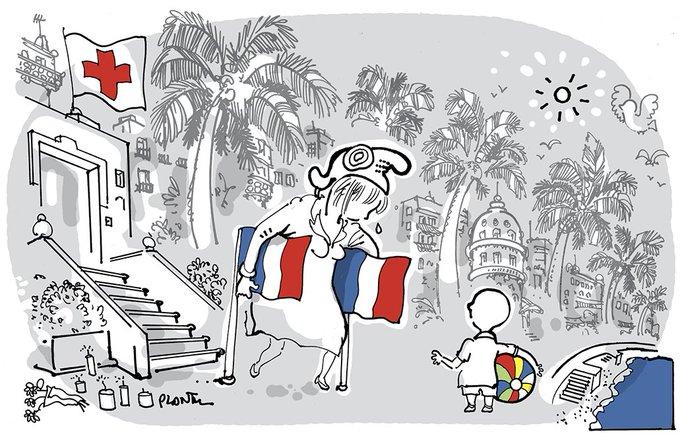 La ville de Nice et ses enfants. Le dessin du Monde de ce samedi 16 juillet 2016.