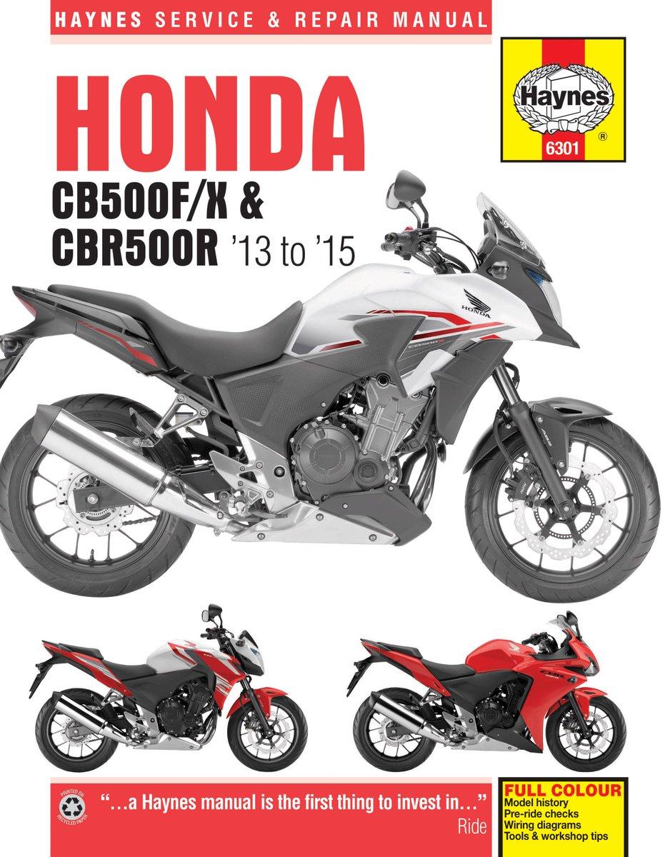 "Motoraceworld.com on Twitter: ""#Honda #CB500 #CB500F #CB500X #CBR500R 2013-  2015 NEW #Haynes Manual 6301 https://t.co/tgTq8txabN… """