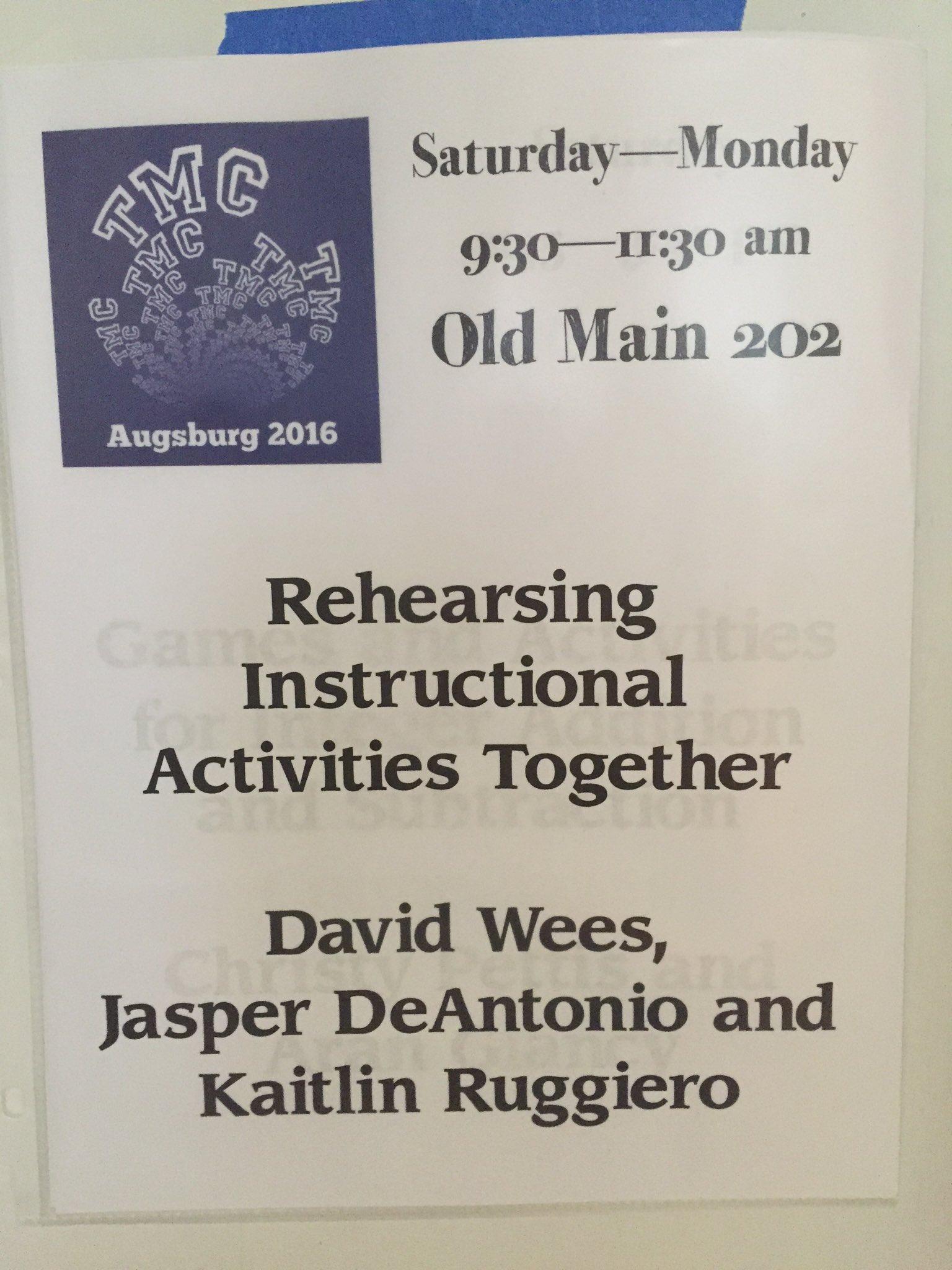 @davidwees @jasperdeantonio Our room is open! #tmc16 https://t.co/hzxPAfrAKQ
