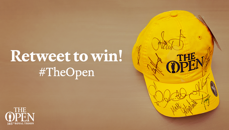 We're giving away this cap signed by McIlroy, Fowler, Kaymer and more. RT for a chance to win! #TheOpen https://t.co/9YGNJkAiU0