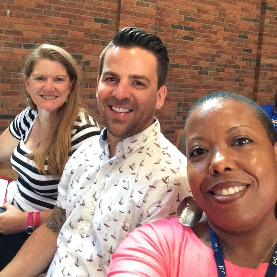 I'm a newbie w/ my soph colleagues @kevin_sauter @mackinson_shawn. Looking forward 2 learning & sharing. #TMC16 https://t.co/WL0161yIVk