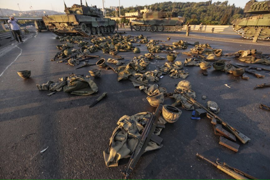#TurkeyCoup   - 192 dead - 1,400+ injured - 3,000+ soldiers arrested - 2,700+ Judges arrested - #US airbase closed