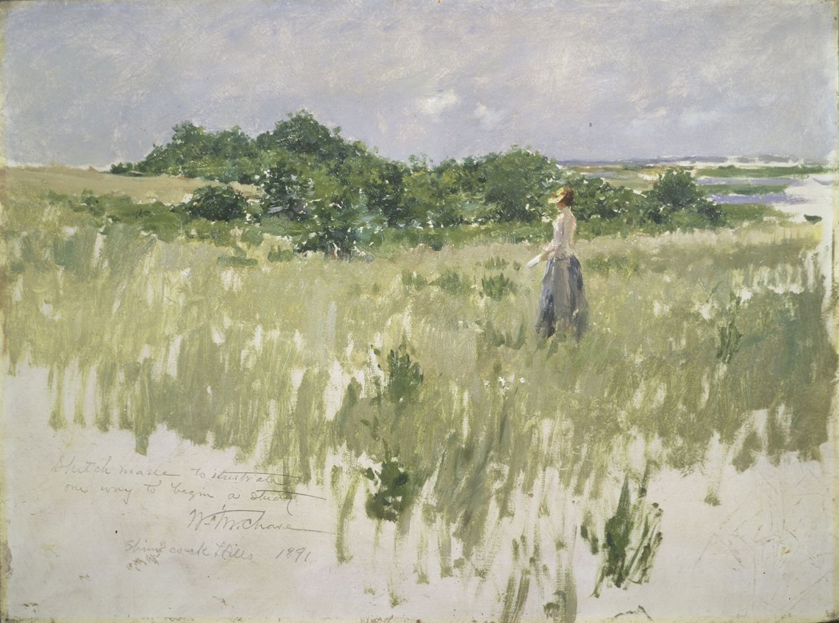 """""""The successful picture ought to look as if it has been blown on the canvas in one puff."""" — William Merritt Chase https://t.co/vIPyCR9UUf"""