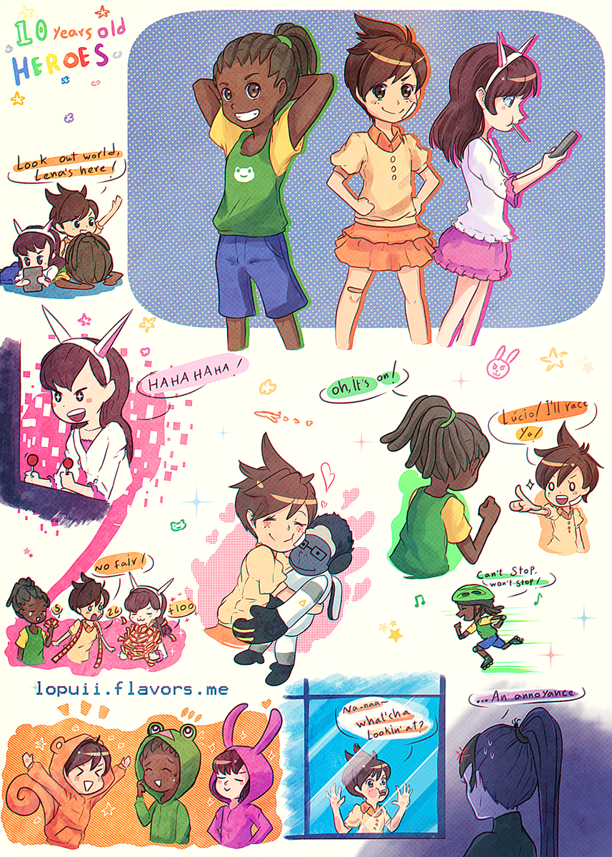 lopuii on twitter overwatch au i wish they were childhood